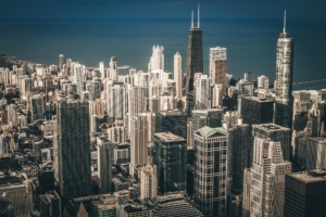 City business district