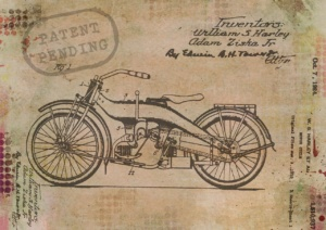 Motorcycle patent pending