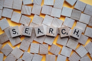 """""""search"""" spelled with Scrabble letters"""