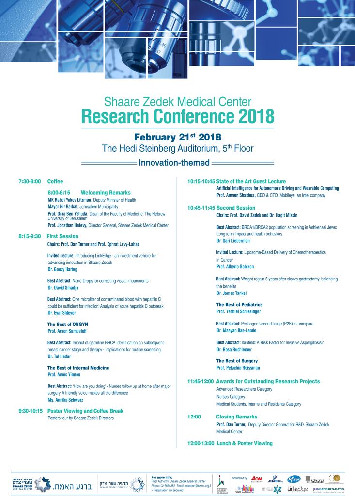 Sharei Zedek Conference program