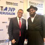 Moshe Lebowitz with Jerusalem Mayor Moshe Leon - Credit Dr George Lowell