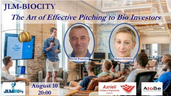 JLM-BioCity Event Art of Effective Pitching to Bio-Investors
